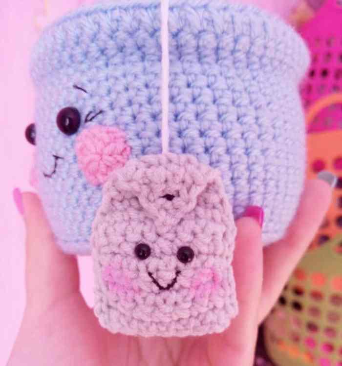 tea cup amigurumi crochet pattern