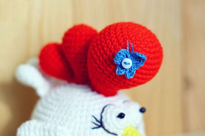 Little rooster free amigurumi crochet pattern