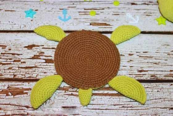 Amigurumi turtle crochet coaster pattern free tutorial