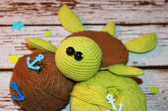 Amigurumi turtle crochet coaster pattern