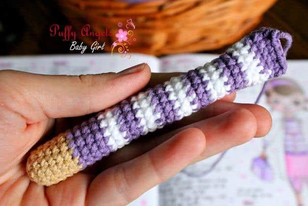 Doc McStuffins doll crochet pattern - arm