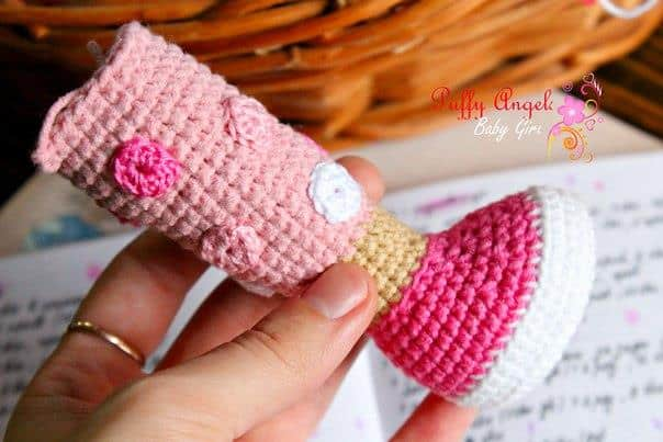 Doc McStuffins doll crochet pattern - leg