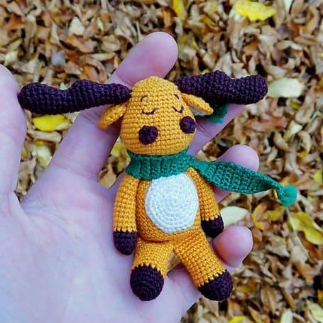 Crochet moose free amigurumi pattern