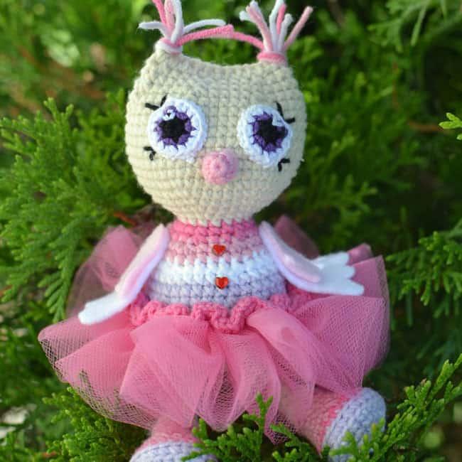 Free Amigurumi Princess Pattern : Cute owl in dress amigurumi pattern - Amigurumi Today