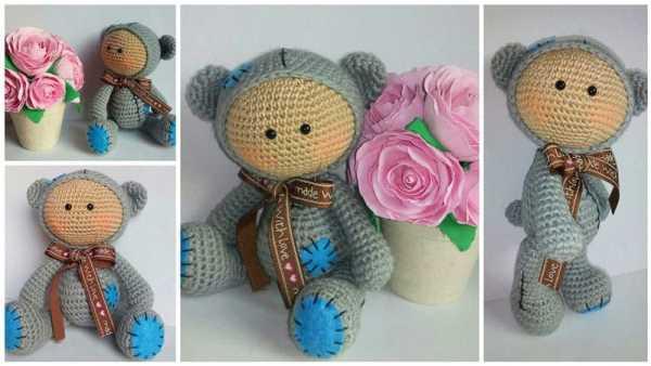 Amigurumi baby dolls in animal costumes - free crochet pattern