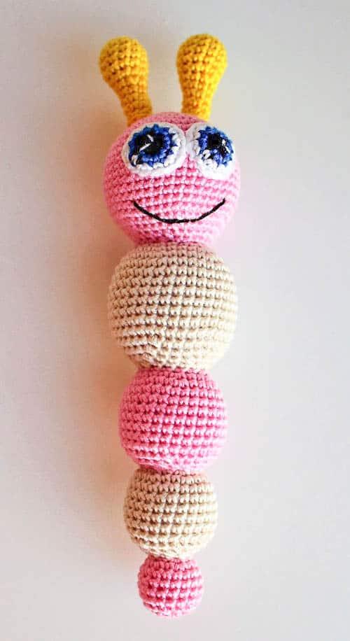 Amigurumi butterfly baby rattle - crochet pattern - free