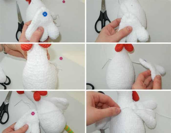Amigurumi funny rooster crochet
