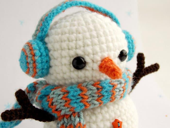 Christmas crochet - Free crochet snowman pattern amigurumi