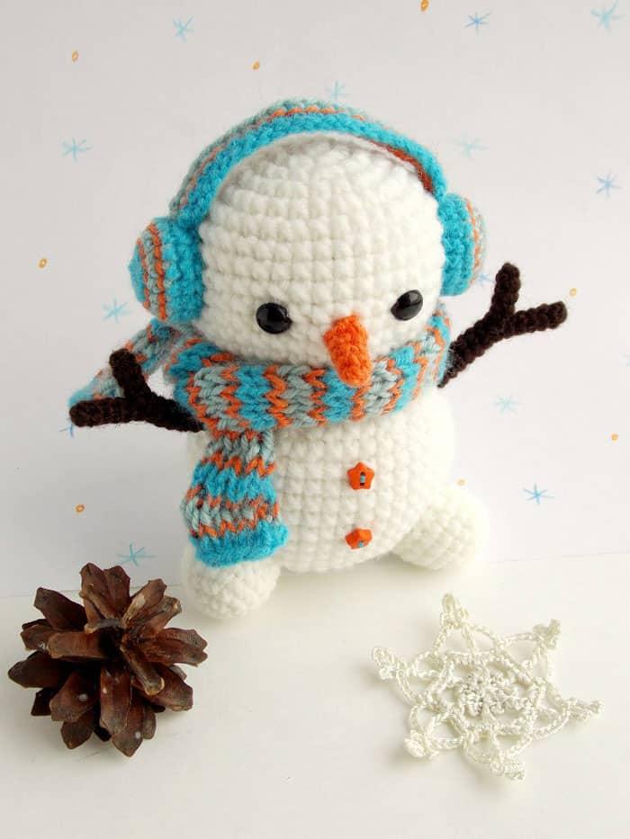 Amigurumi Today Cuddle Me Bear : Free crochet snowman pattern - Amigurumi Today