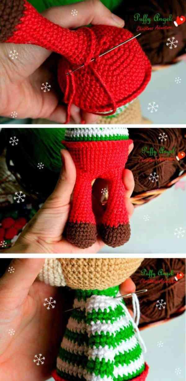 Christmas deer amigurumi pattern free