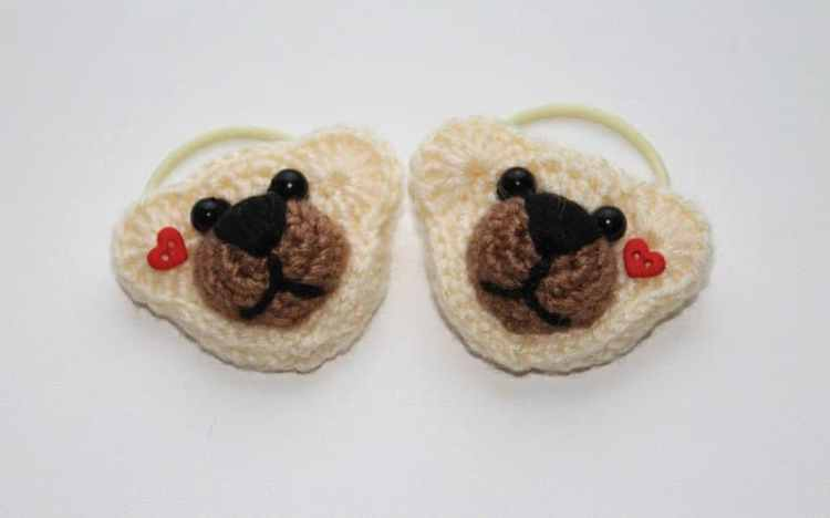 Crochet bear hair ties pattern