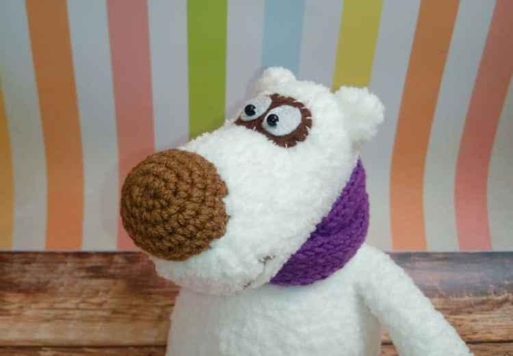 Crochet polar bear amigurumi pattern free