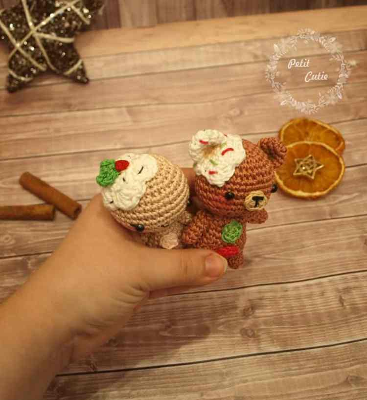 Gingerbread man and teddy crochet patterns