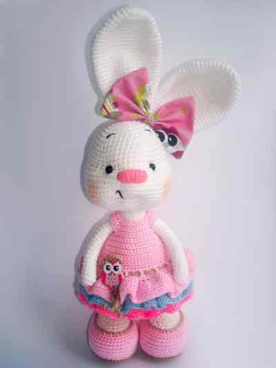 Bunny Amigurumi Anleitung : Pretty bunny amigurumi in dress - Amigurumi Today