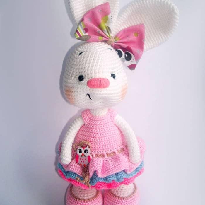 Pretty bunny free amigurumi pattern