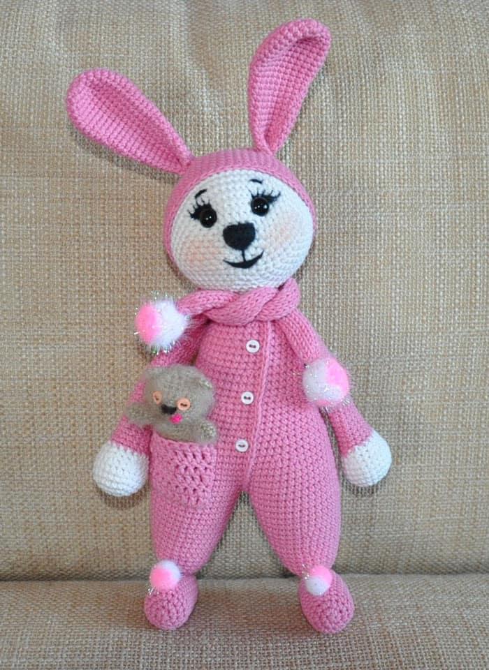 Amigurumi Bunny In Pajamas Amigurumi Today