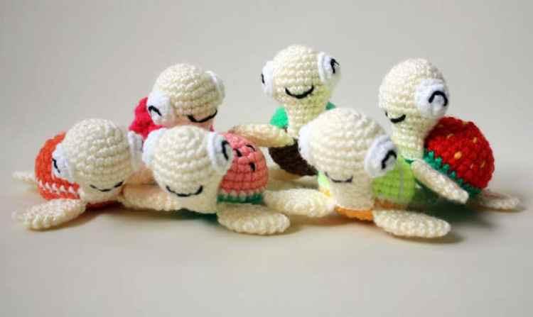 Free Amigurumi Patterns Beginners : Watermelon turtles amigurumi patterns - Amigurumi Today