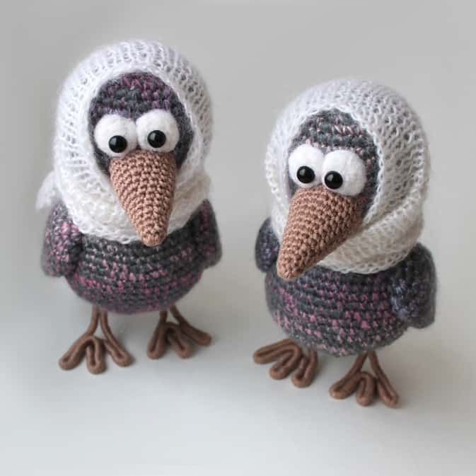 Free Amigurumi Rooster : Cute owl in dress amigurumi pattern - Amigurumi Today