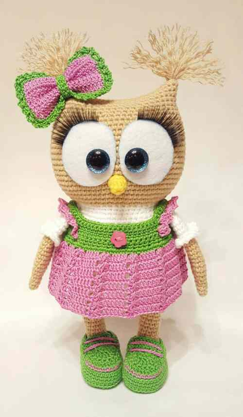 Amigurumi Clothes Pattern : Cute owl in dress amigurumi pattern - Amigurumi Today