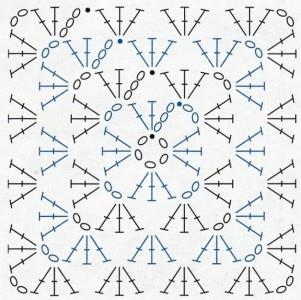 Zebra baby comforter crochet pattern - graphic