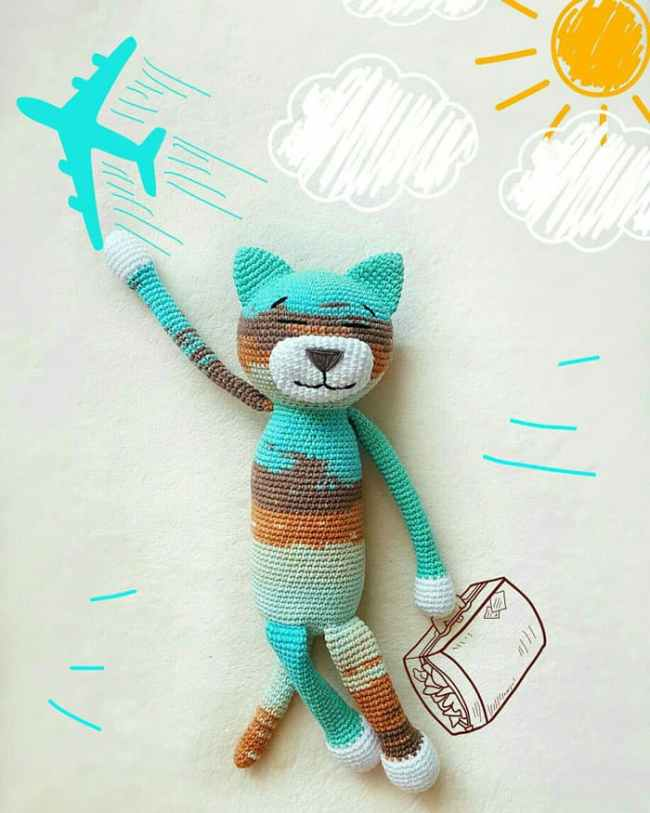 Large Ami Cat crochet pattern
