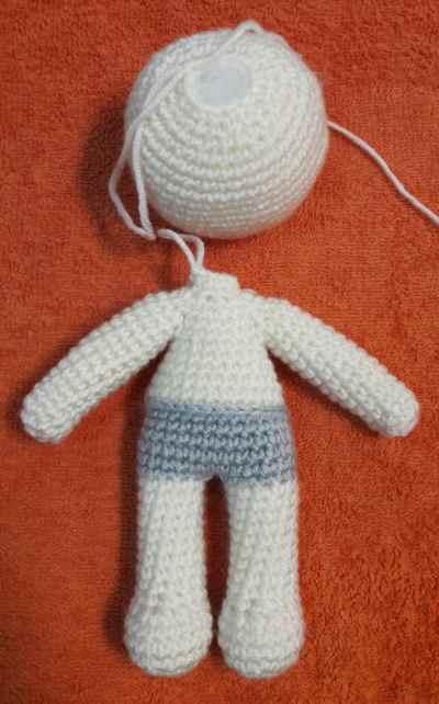 Julie doll amigurumi pattern - assembly