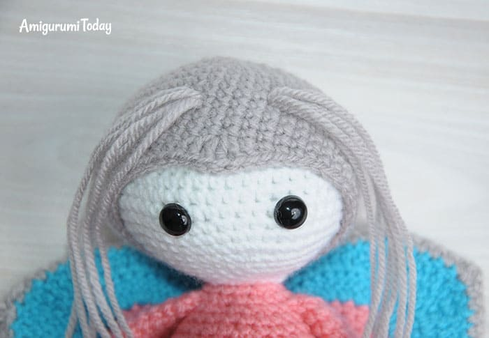 Amigurumi doll in butterfly costume pattern - antennae