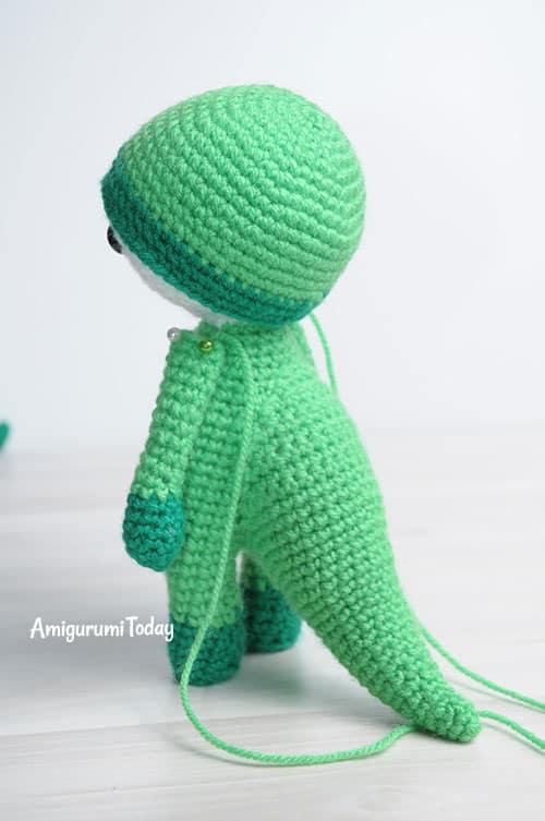Amigurumi doll in dragon costume - step-by-step pattern