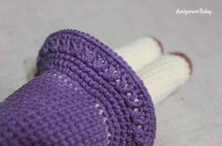 Amigurumi kitty in lilac dress - crochet pattern - skirt