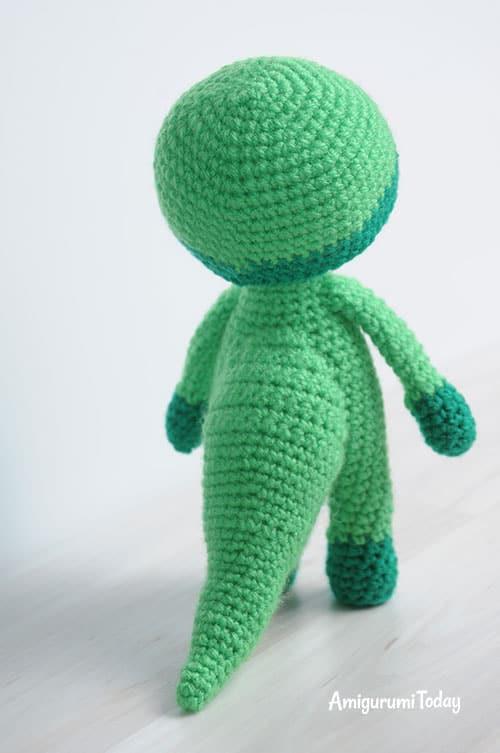 Crochet doll in dragon costume pattern