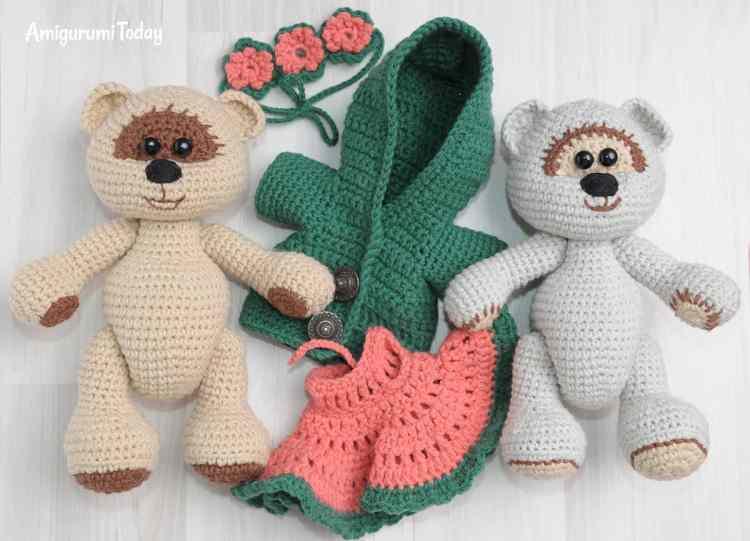 Honey teddy bears - free crochet patterns
