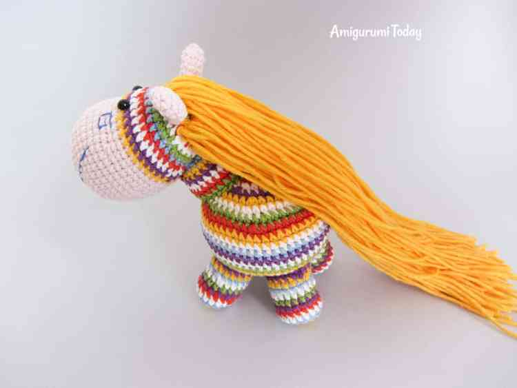 How to make amigurumi pony hair - tutorial