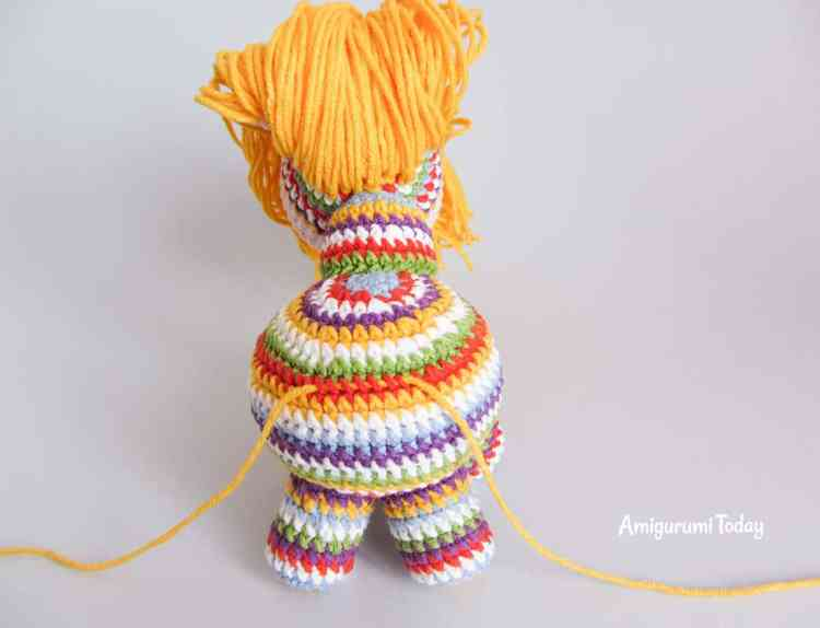 How to make amigurumi pony tail - tutorial