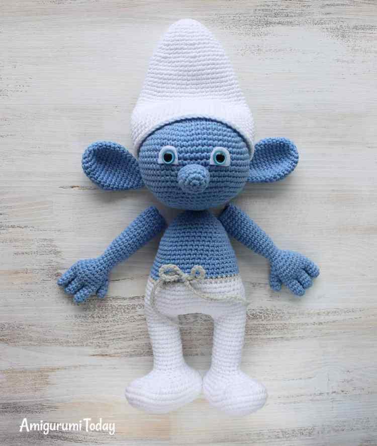 Crochet Smurf amigurumi pattern - assembly