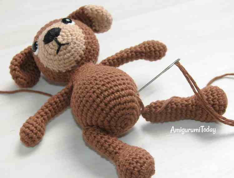 Crochet Timmy Dog in jumpsuit pattern