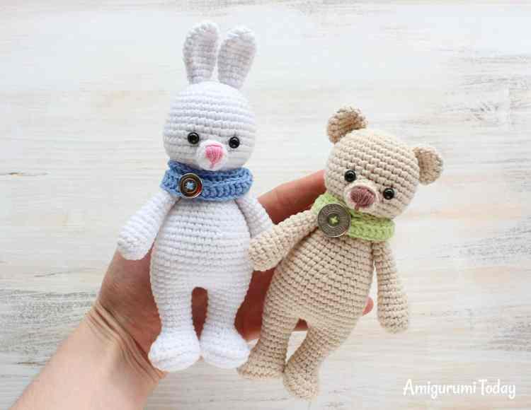 Cuddle Me Bunny and Bear amigurumi patterns