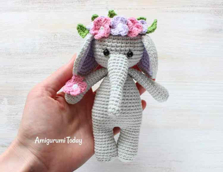 Cuddle Me Elephant Amigurumi Pattern - FREE
