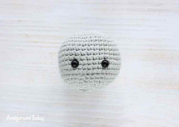 Cuddle Me Elephant Crochet Pattern - head