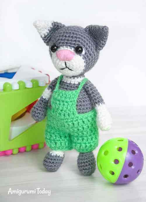 Toby the Cat - amigurumi pattern by Amigurumi Today