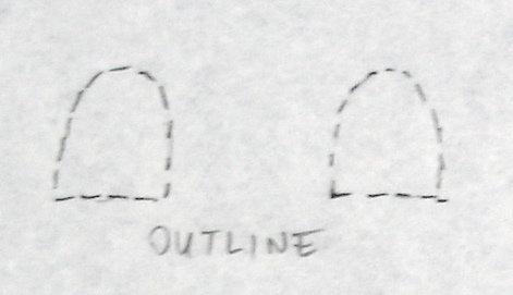 Otuline with pencil