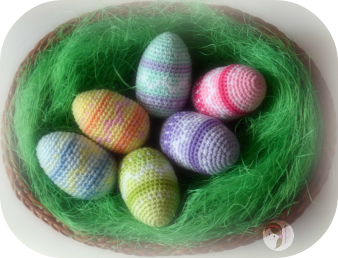 Colorful Easter Eggs by AmigurumiBB