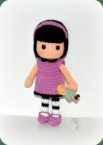 Liz the Goth doll by AmigurumiBB