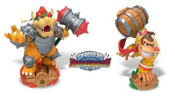 Donkey Kong and Bowser Skylanders Superchargers Amiibo
