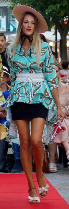 Chemise style foulard turquoise