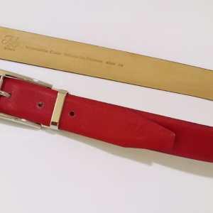 Superbe ceinture cuir rouge