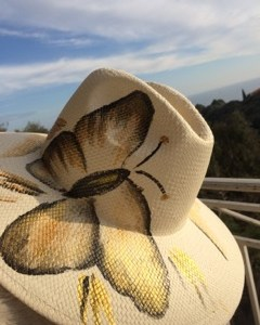 yellow butterfly hat
