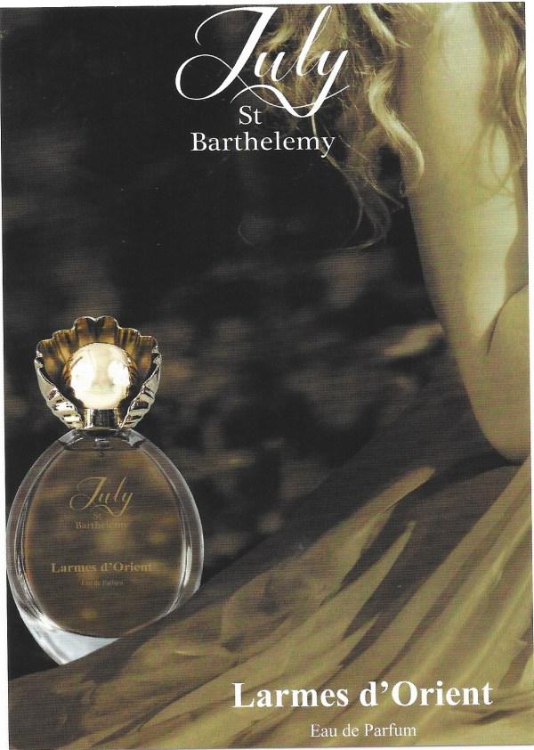 Larmes d'Orient carte parfumee perfumed card
