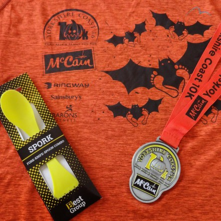 t shirt, medal and spork!