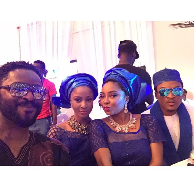 Linda-Ejio and others at osas tad wedding