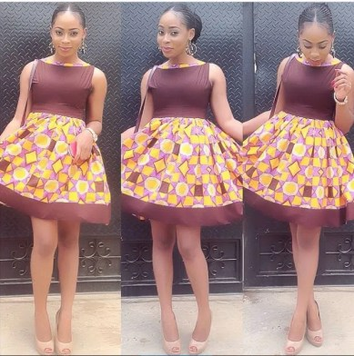 aso ebi ankara styles short gowns-amillionstyles4